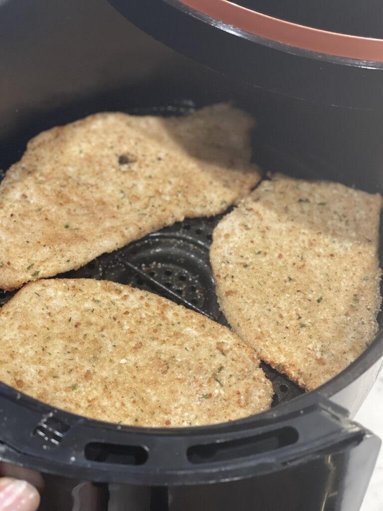 air fried chicken cutlet