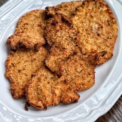air fried chicken cutlets
