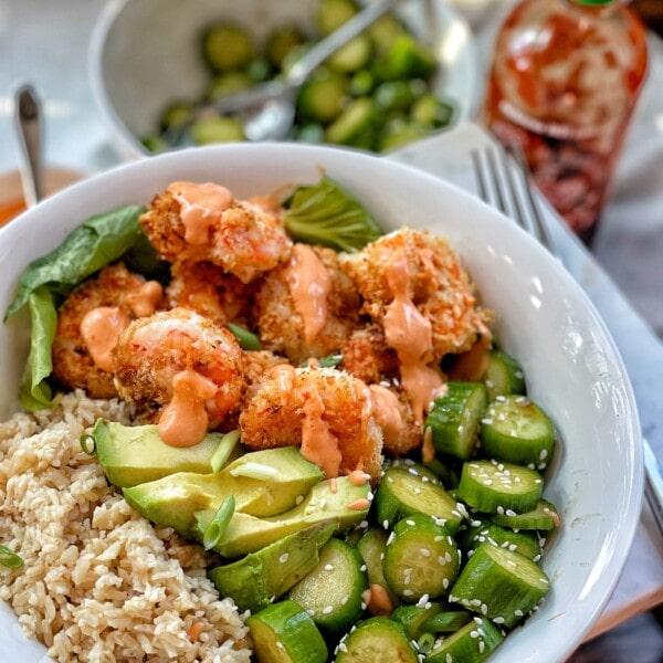 air fried panko shrimp