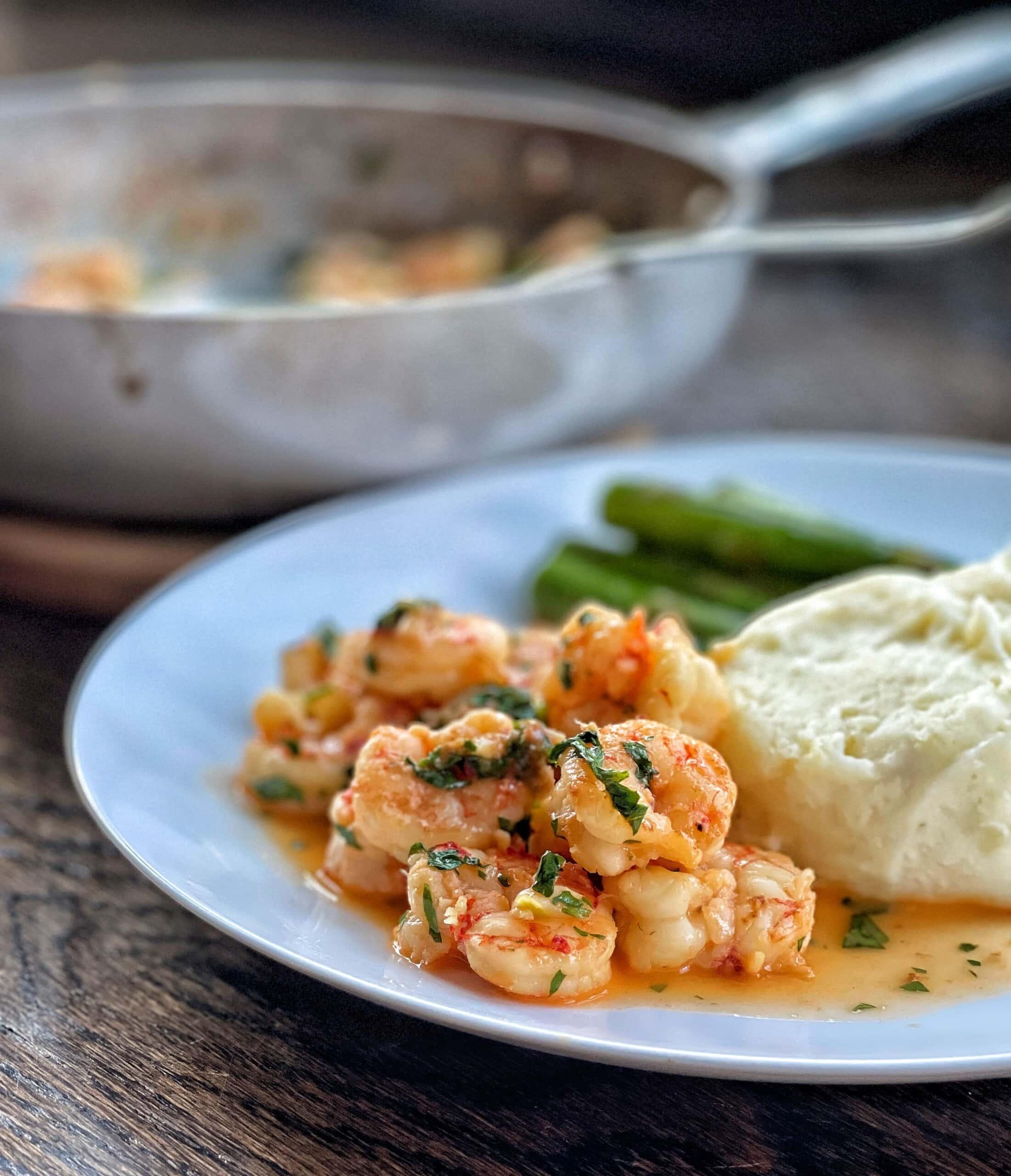 garlicky shrimp