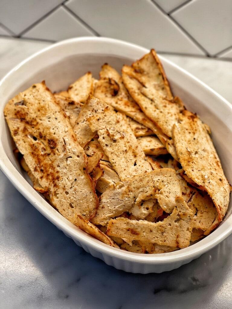 healthy sliced chicken gyro