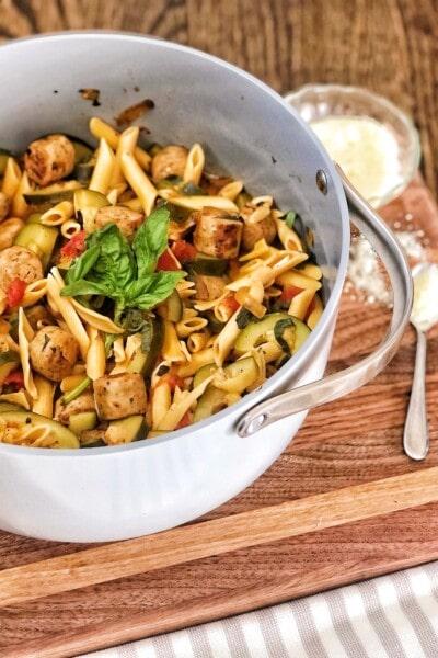 gluten free pasta chicken sausage