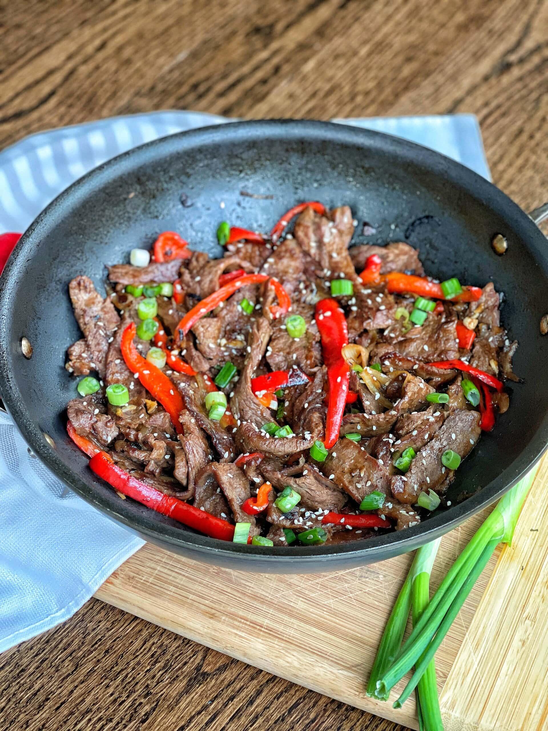 one pan pepper steak