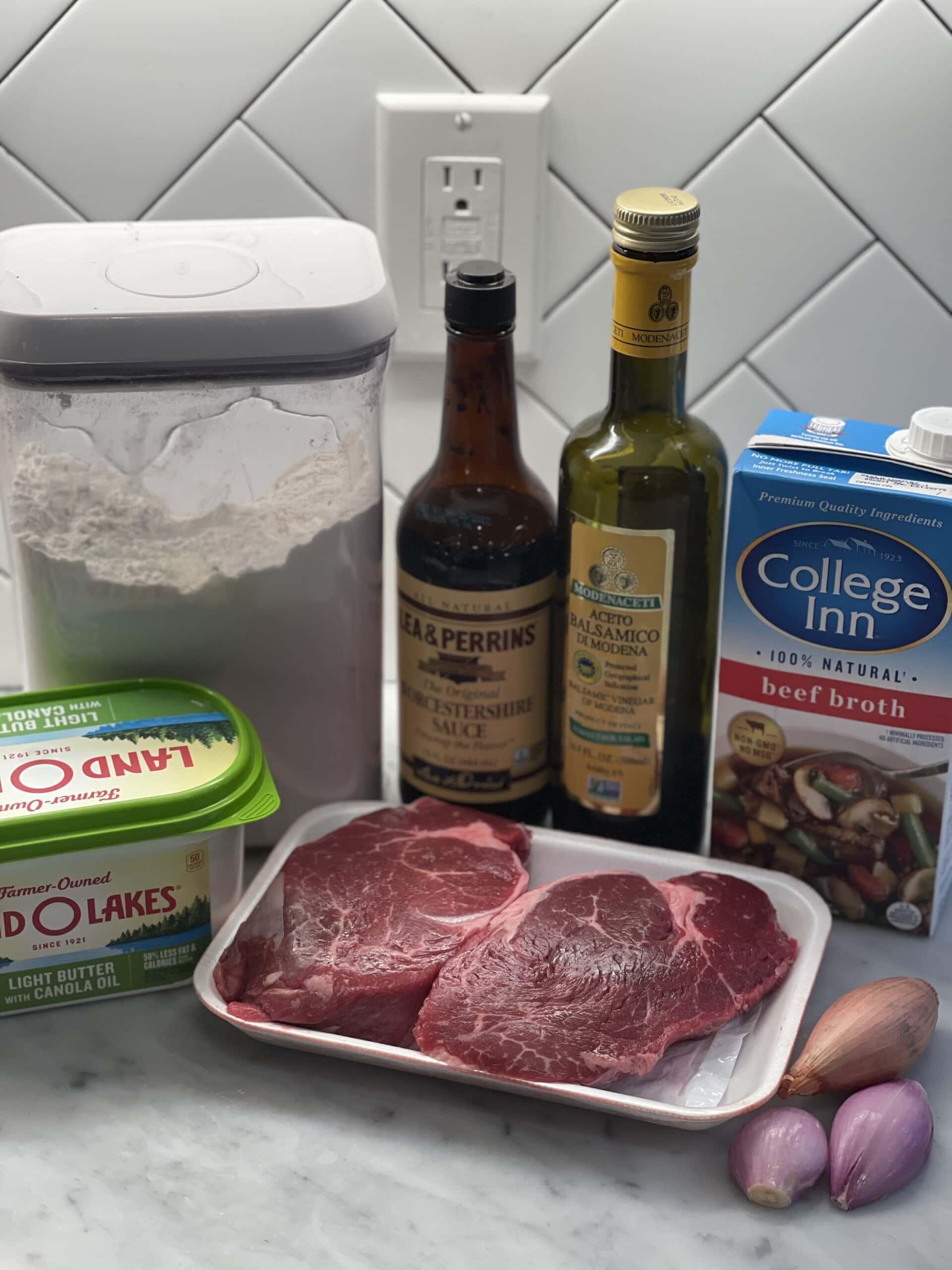 filet mignon with pan sauce
