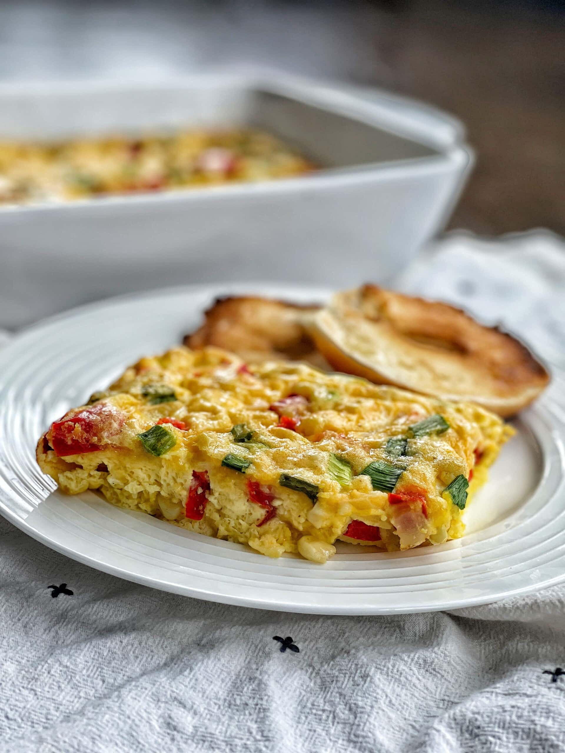 corn and cheddar egg bake
