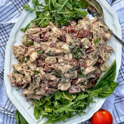 balsamic caprese chicken salad