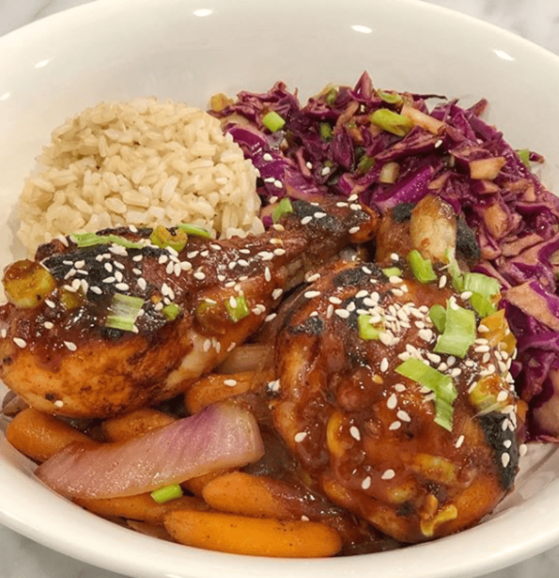 Asian BBQ drumsticks and spicy slaw.png