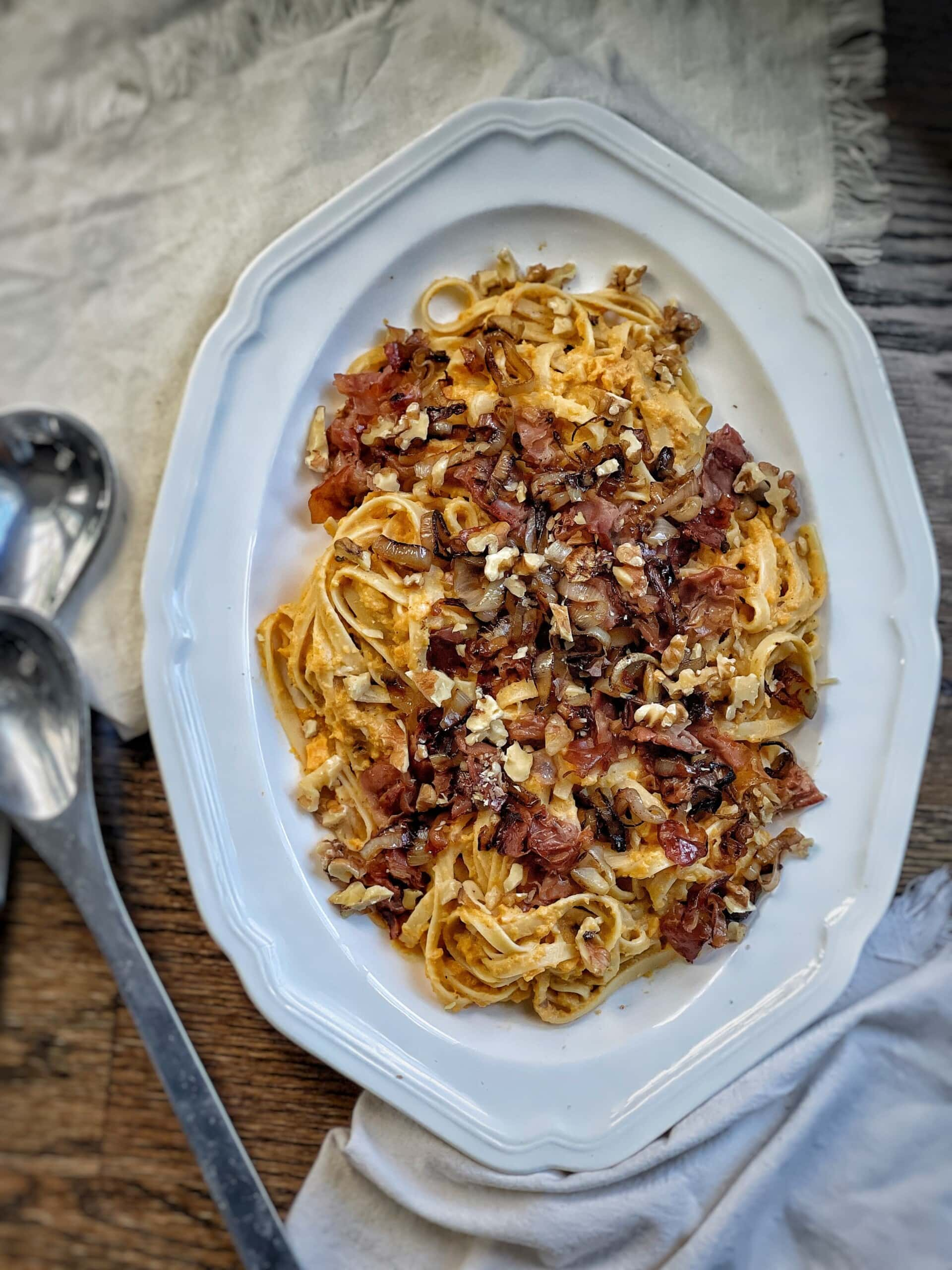 creamy pasta with butternut squash