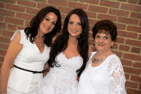 My mom, me and my grandma at my bridal shower, 2014.