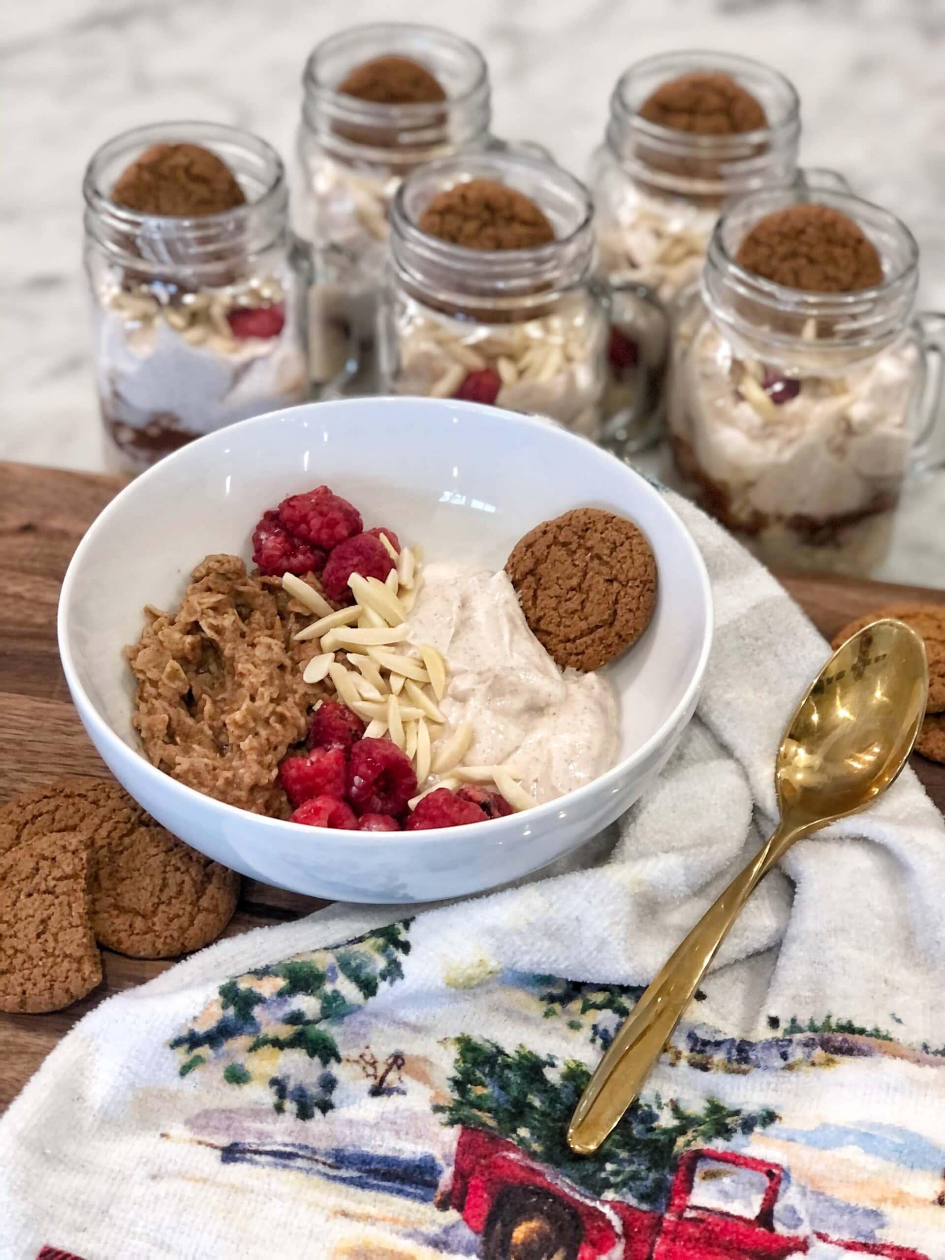 raspberry gingersnap oats