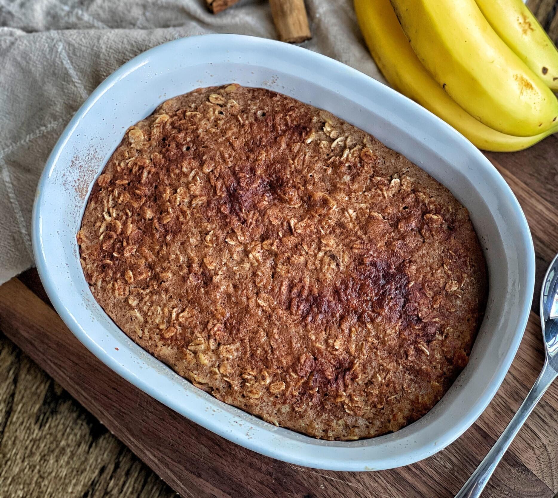 maple cinnamon baked oatmeal