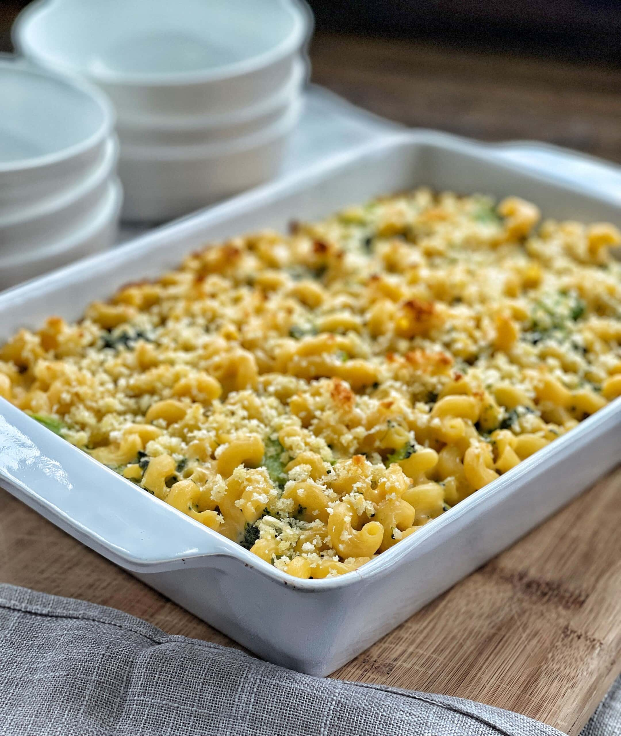 Baked Broccoli Mac and Cheese