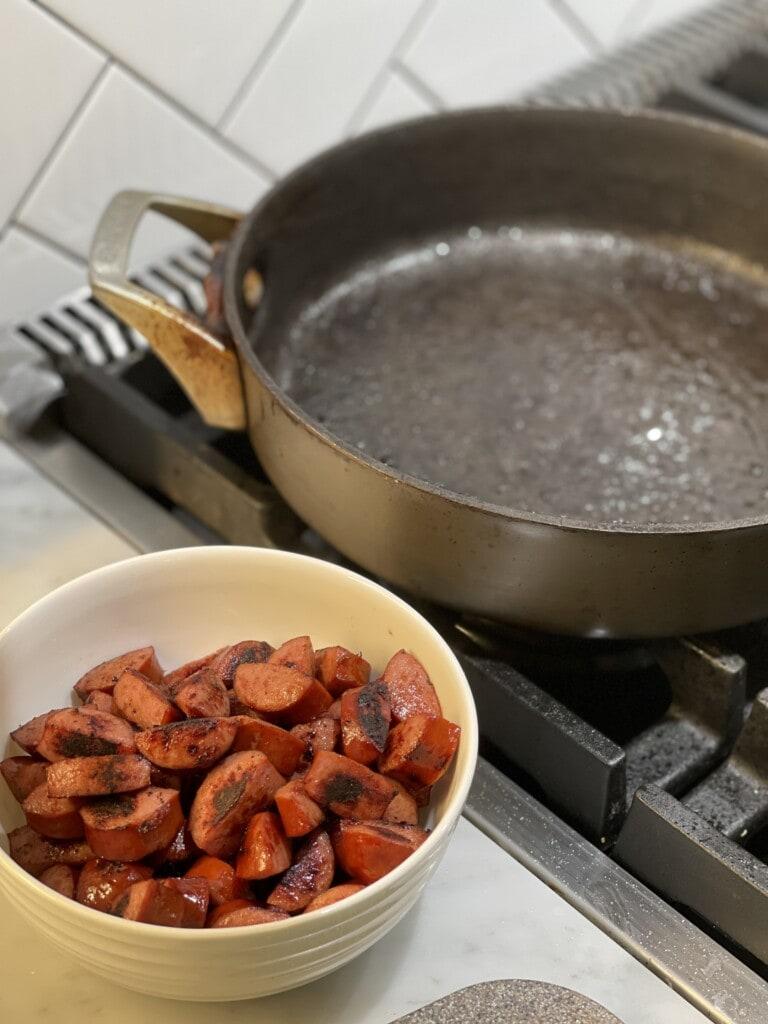 one pot kielbasa hash