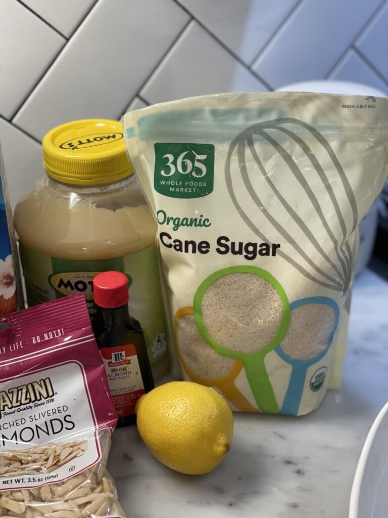 lemon almond baked oatmeal