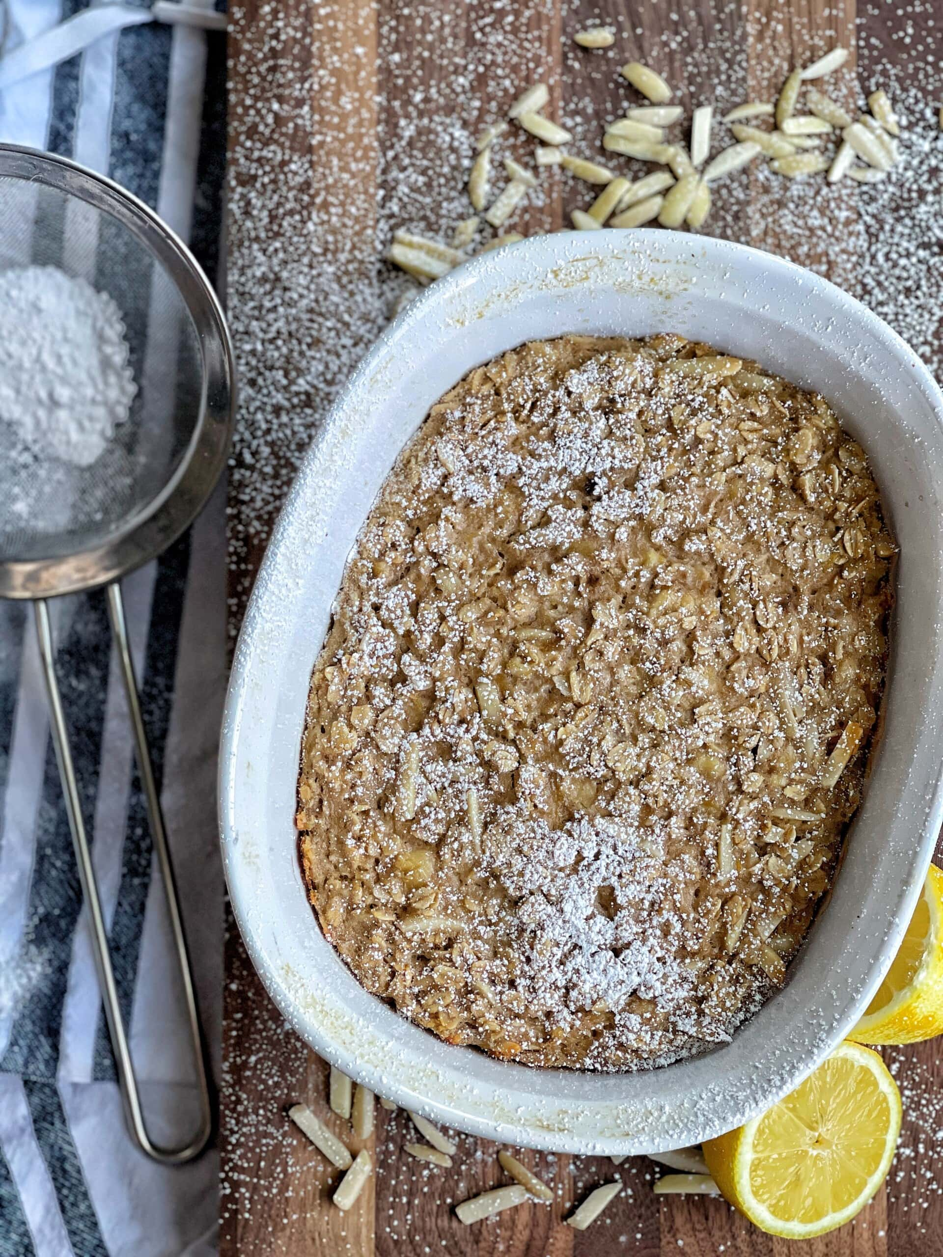 lemon almond baked oatmeal