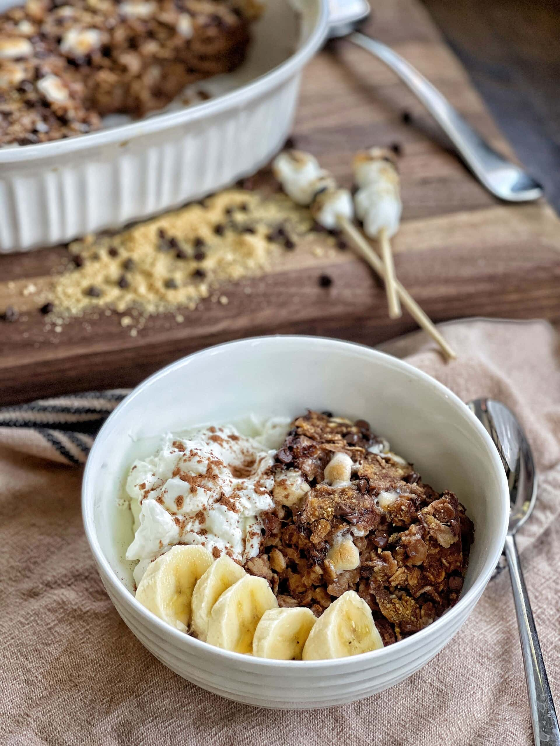 smores baked oatmeal
