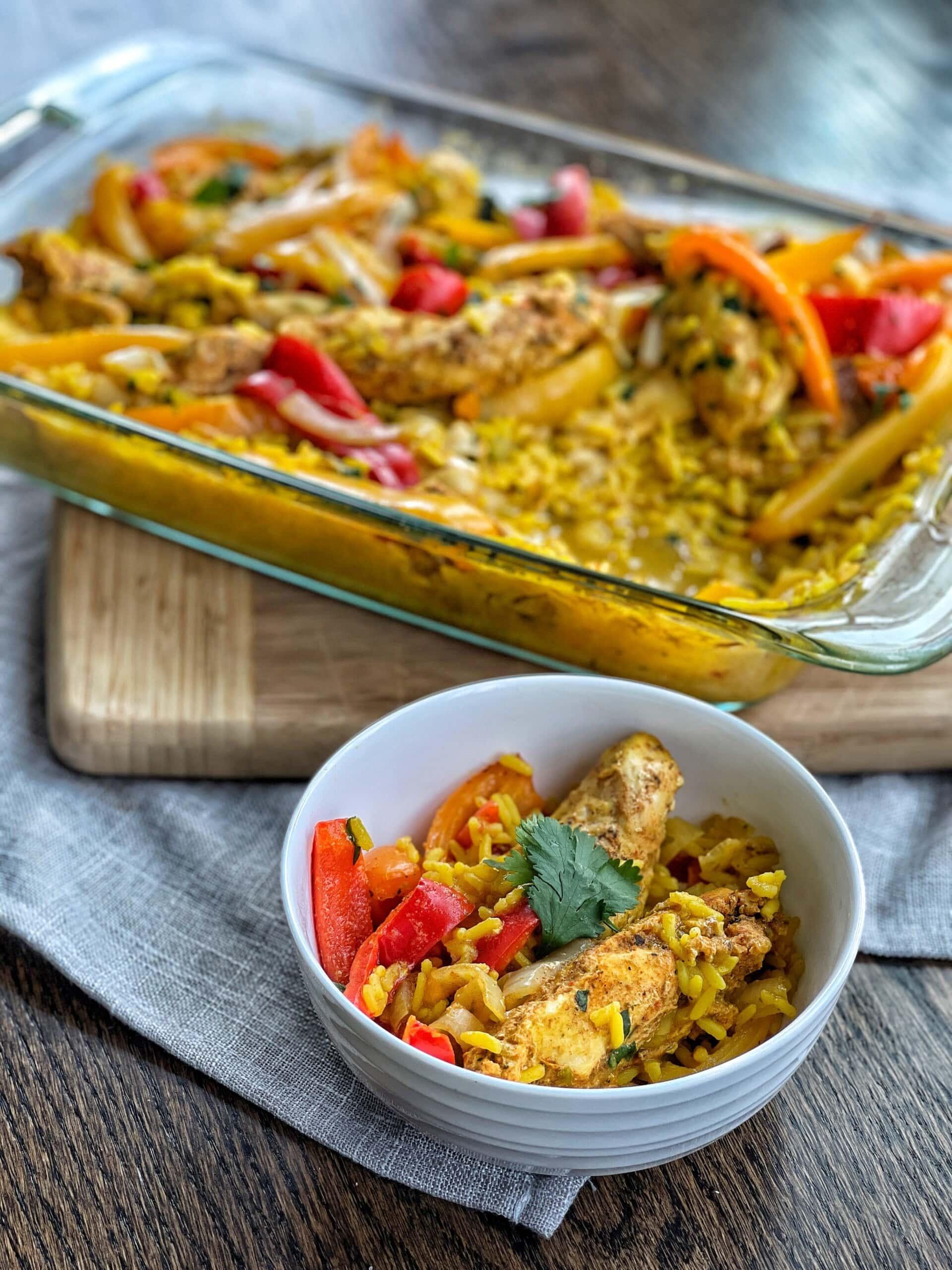 fajita and rice