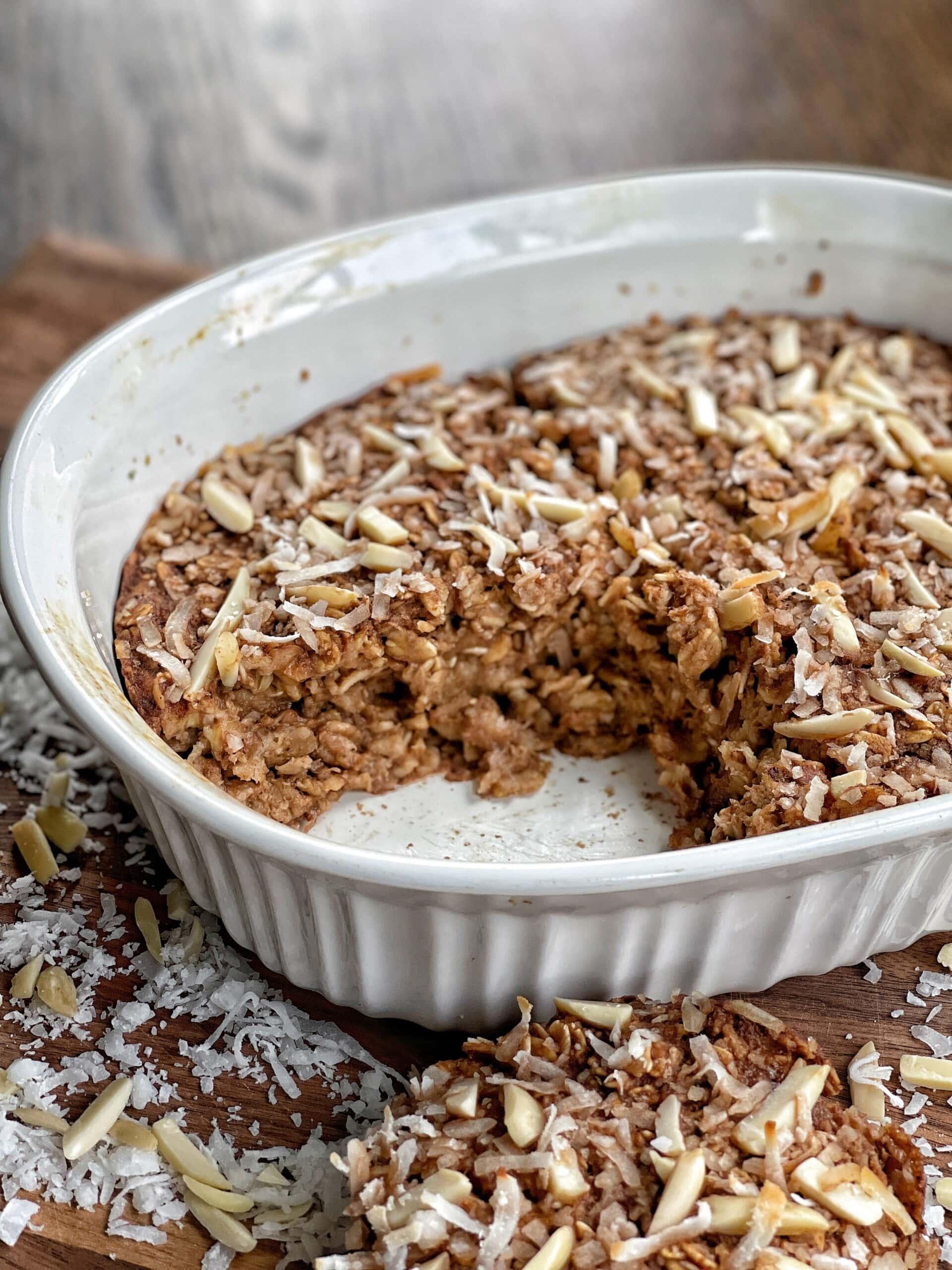 almond joy baked oatmeal