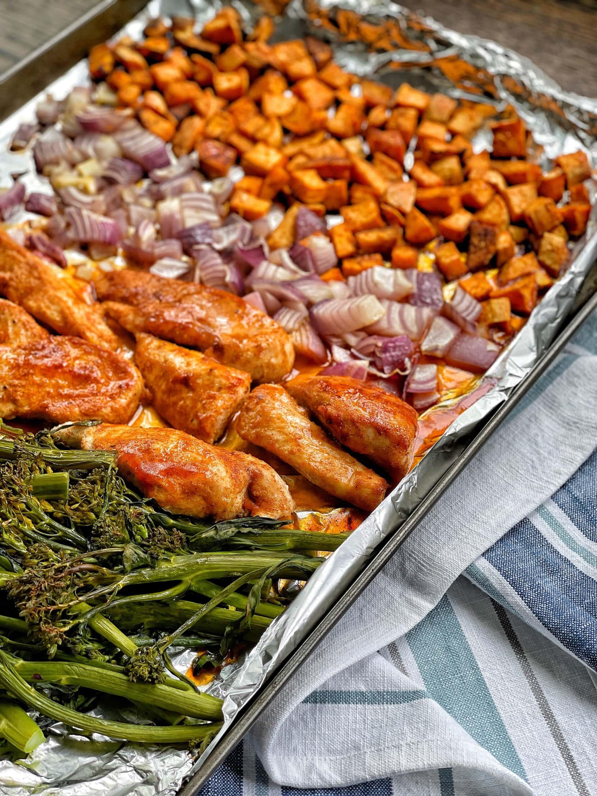sheet pan bbq chicken
