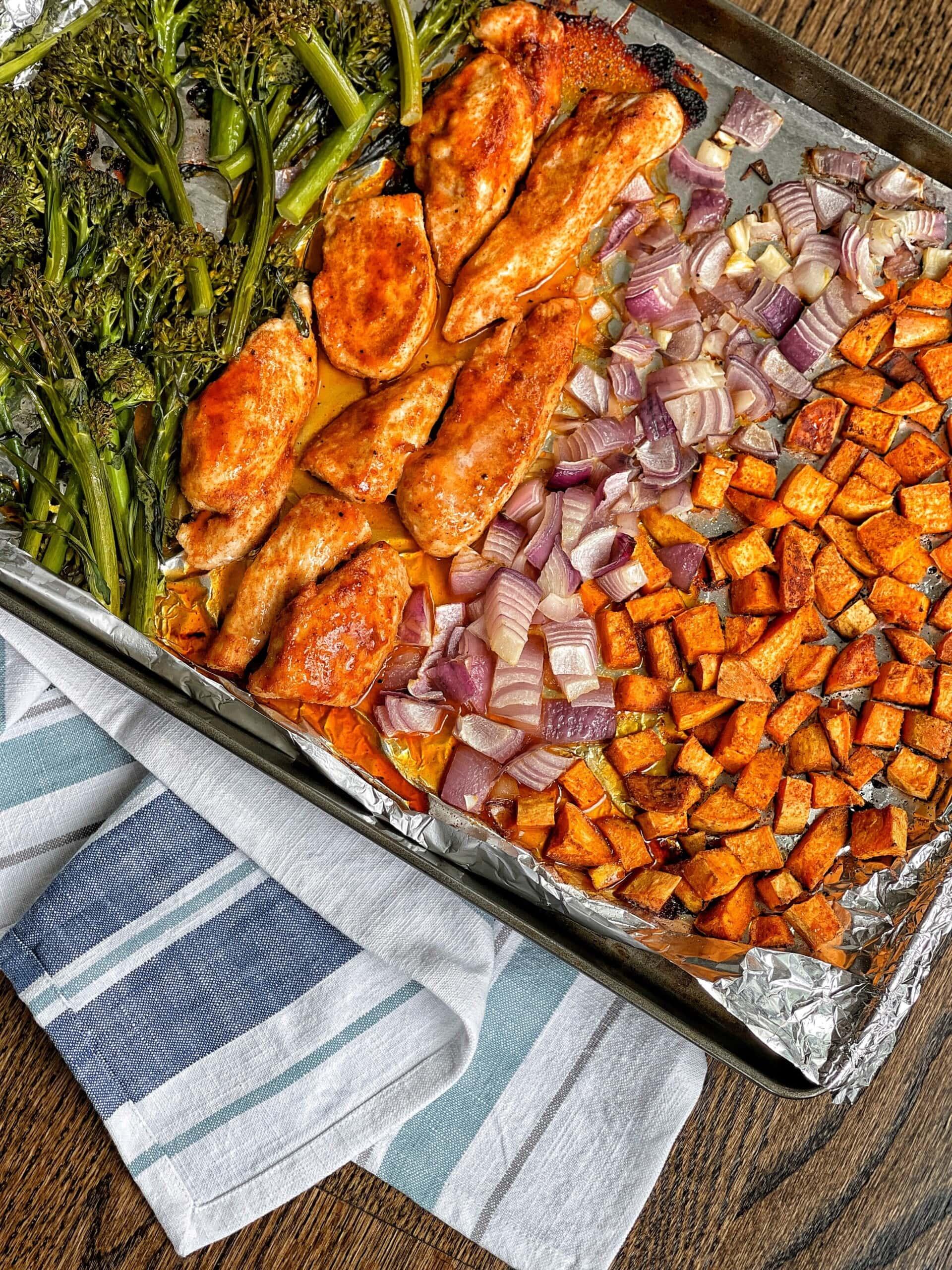 bbq chicken sheet pan meal