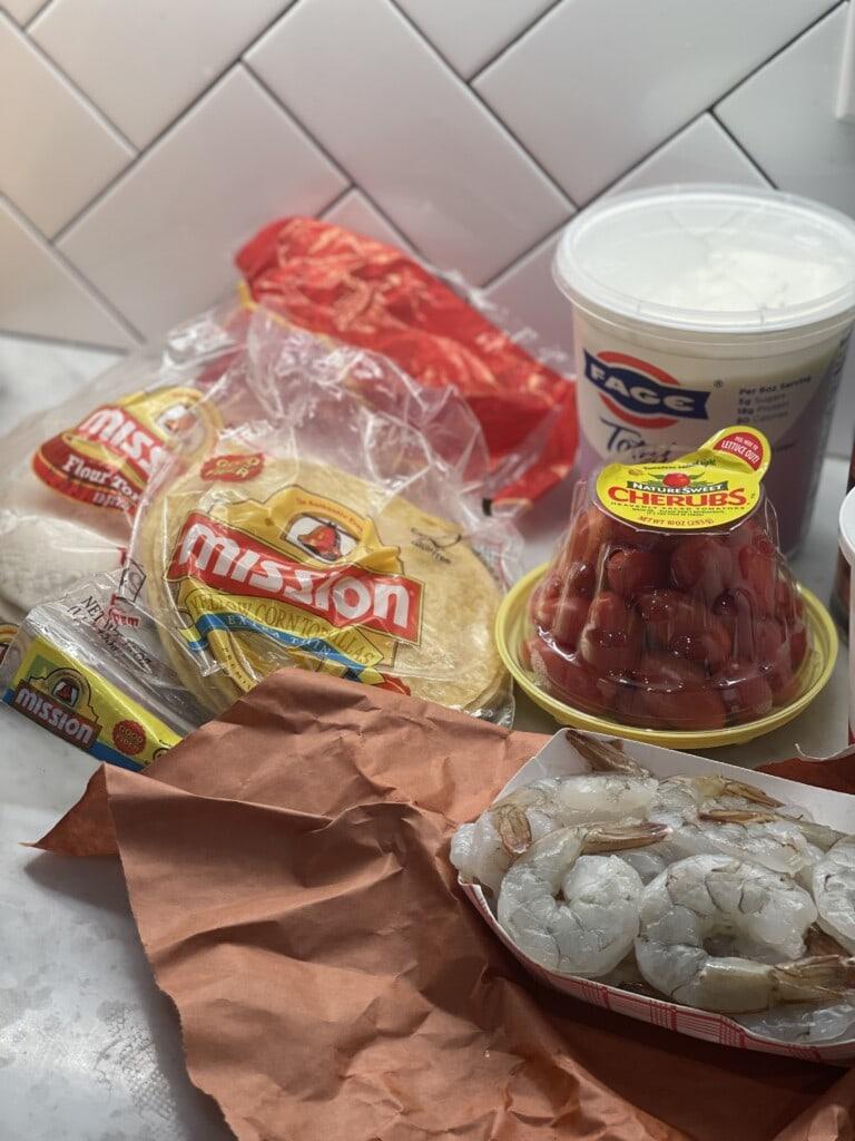 air fried shrimp tacos
