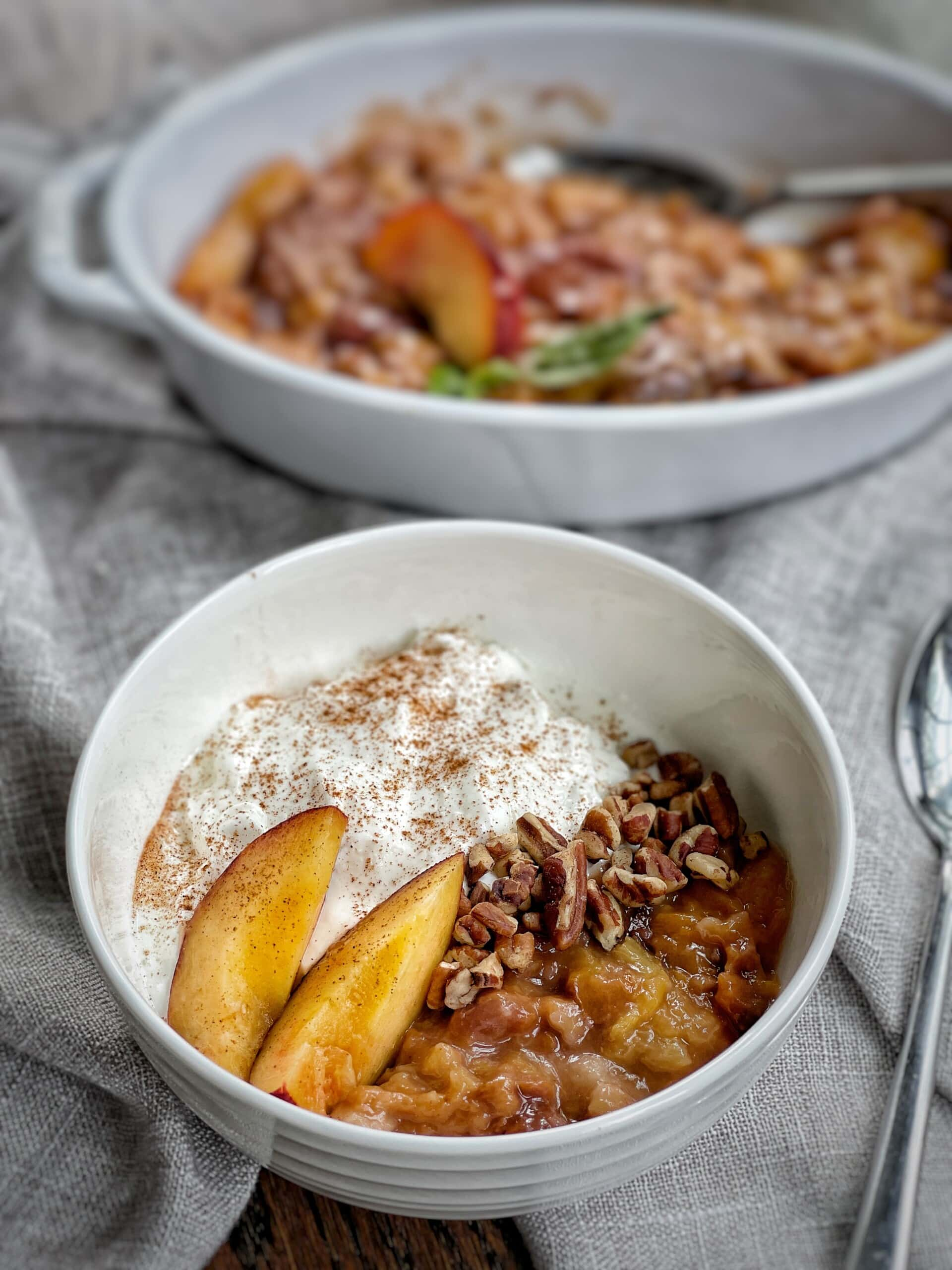 slow cooker peaches