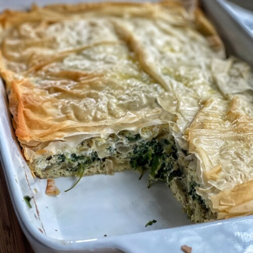 spinach egg bake with phyllo
