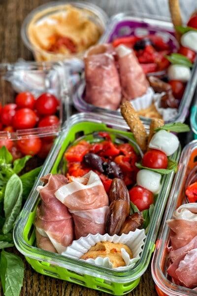 italian inspired lunch