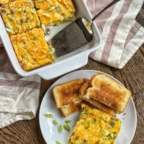 hearty western omelet bake