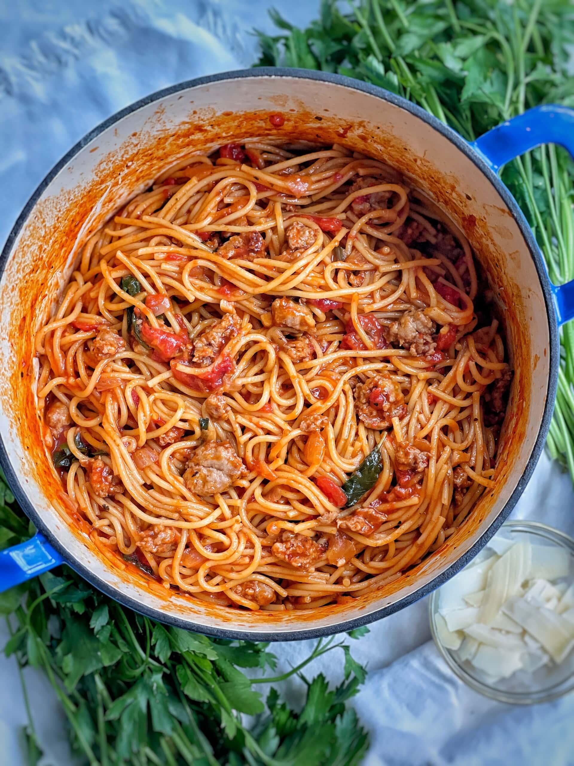 one pot spaghetti