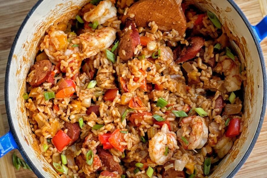 one pot sausage and shrimp