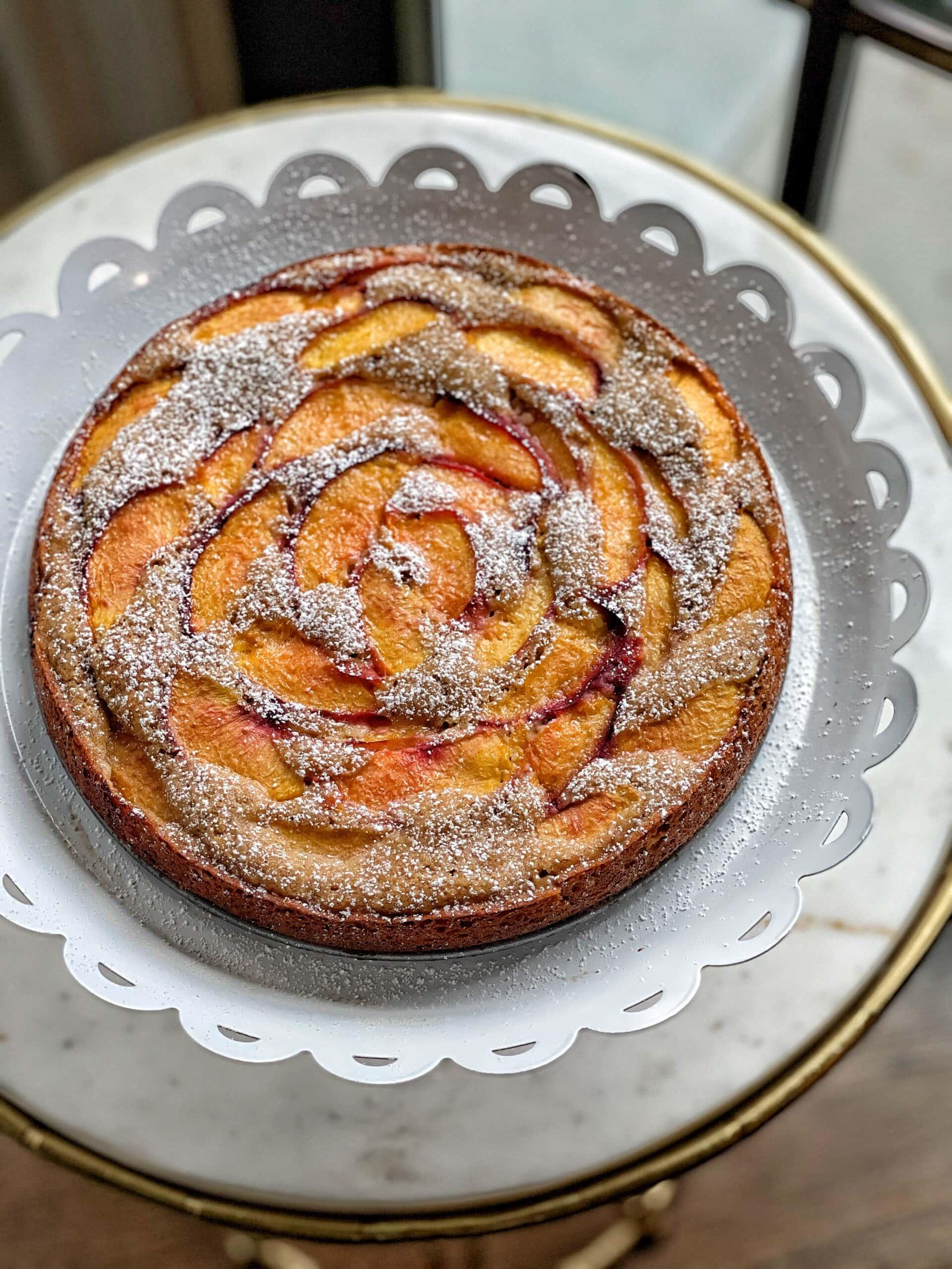 peach cake with almond flour