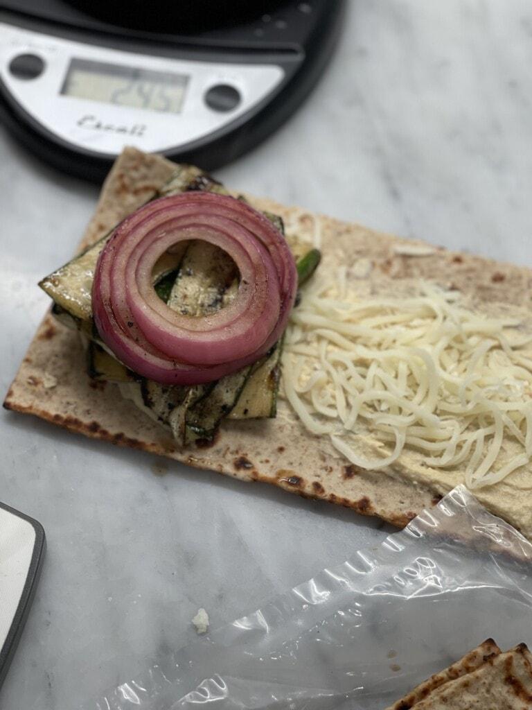 grilled vegetable lavash wrap