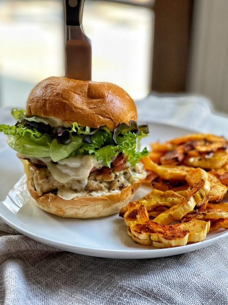 cordon bleu burger