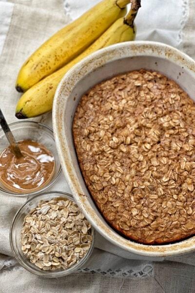 almond butter baked oatmeal