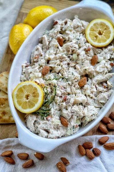 lemon almond chicken salad