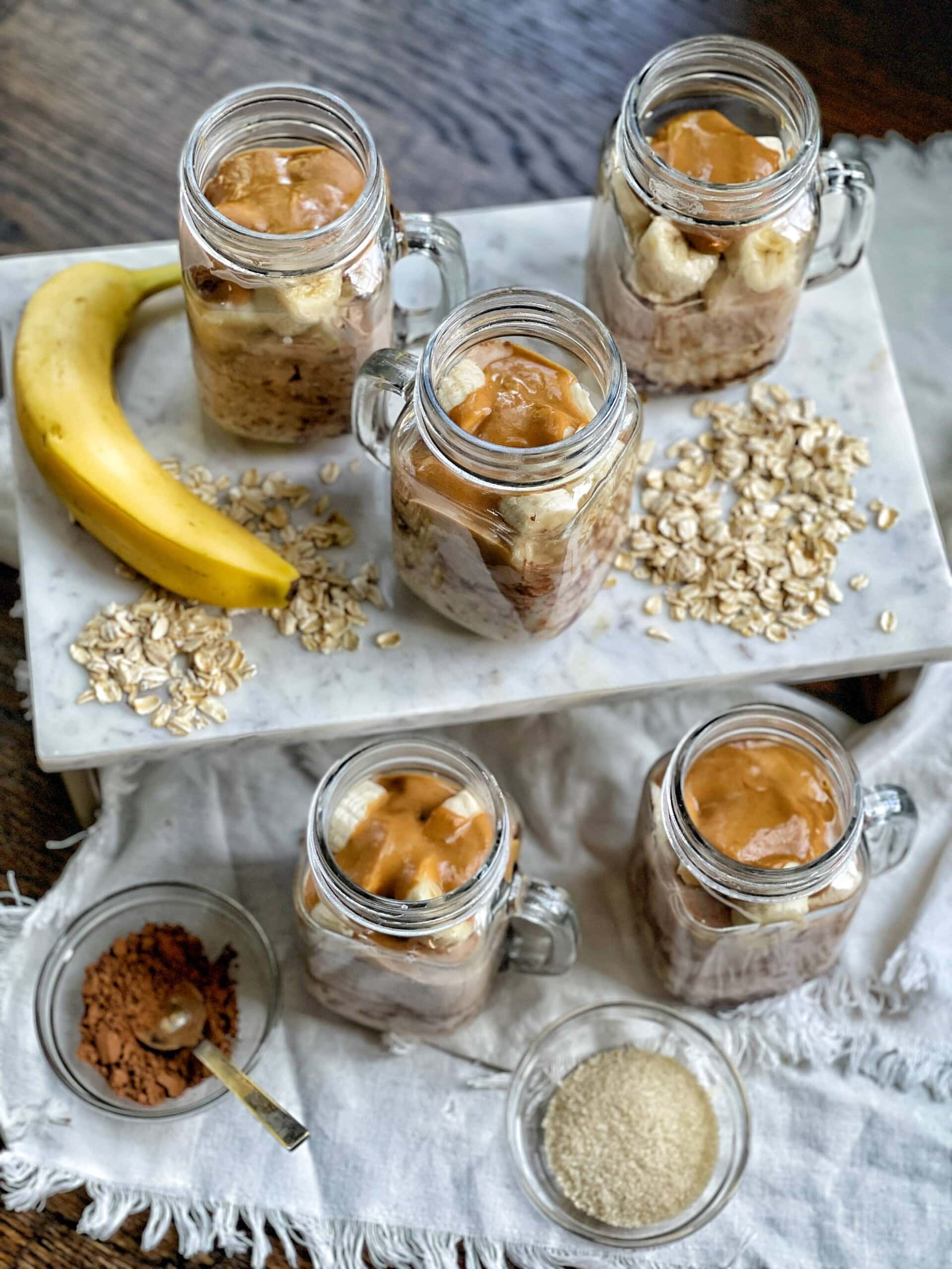 chocolate banana overnight oats