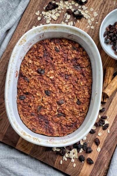cinnamon raisin baked oatmeal
